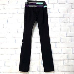 Lululemon black straight leg Groove Pant size 6